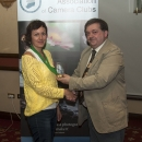 SACC Chairman Bill Power presenting Joanna Kurylonska with award