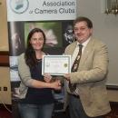SACC Chairman Bill Power presenting Niamh Whitty with award