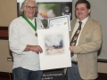 SACC Chairman Bill Power presenting Ron Bending with award
