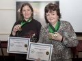 Maria Martin (Carlow) and Nuala Brogan (Carlow) proudly showing their Certificates and Madals