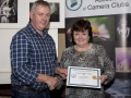 SACC Chairman Richie Dwyer presenting Nuala Brogan with her certificate