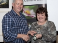 SACC Chairman Richie Dwyer presenting Nuala Brogan with her silver medal