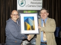 Iñaki Hernandez presenting Bill Power with a copy of his print as raffle prize