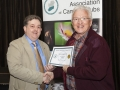 SACC Chairman Bill Power presenting John Cuddihy from Kilkenny Photographic Society certificate for third place Colour Print Panel