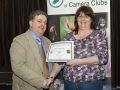 SACC Chairman Bill Power presenting Cathy Rossiter from Wexford Camera Club with certificate for third place Projected Image Panel