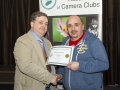 SACC Chairman Bill Power presenting Paul Reidy from Blarney Photography Club with certificate for second place Projected Image Panel