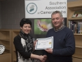 SACC Chairman Richie Dwyer pictured with Natalja Murphy from Wexford Camera Club - 2nd colour print club.jpg