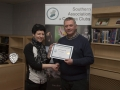 SACC Chairman Richie Dwyer pictured with Natalja Murphy from Wexford Camera Club - 2nd overall club.jpg