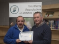SACC Chairman Richie Dwyer pictured with Paul Reidy from Blarney Photography Club - 2nd mono print club.jpg