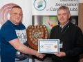 SACC Chairman Richard Dwyer pictured presenting award for first colour print panel to Jason Town from Cork Camera Group