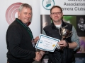 SACC Chairman Richard Dwyer pictured presenting award for first projected image panel to Mark Gorman from Blarney Photography Club