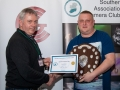 SACC Chairman Richard Dwyer pictured presenting award for overall club winner  to Jason Town from Cork Camera Group
