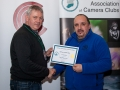 SACC Chairman Richard Dwyer pictured presenting award for second place overall club to to Paul Reidy from Blarney Photography Club