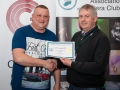SACC Chairman Richard Dwyer pictured presenting award for third monochrome print panel to Jason Town from Cork Camera Group