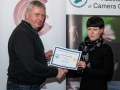 SACC Chairman Richard Dwyer pictured presenting award for third place overall club to to Natalja Murphy from Wexford Camera Club