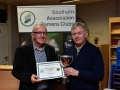 Presentation of Certificate to Cork Camera Group received by John Finn