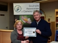 Presentation of Certificate to Viv Buckley Mallow Camera Club