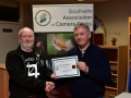 Rory O'Connor receiving the Certificate on behalf of Blarney Photography Club