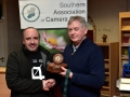Paul Reidy receiving his best colour print award from Richard Dwyer