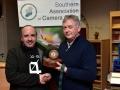 Paul Reidy receiving his best colour print award from Richard Dwyer