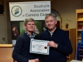 Vincent Kelly receiving Certificate on behalf of Cork Camera Group