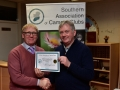 John Hughes receiving 3rd Place BW Cert for Kilkenny Photographic Society