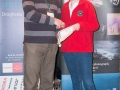 SACC Secretary David Barrie presenting award to Dawn Creagh
