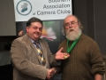 SACC Chairman Bill Power pictured presenting award to Charlie Galloway
