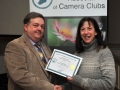 SACC Chairman Bill Power pictured presenting award to Colette O'Connell