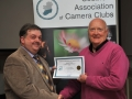 SACC Chairman Bill Power pictured presenting award to Jack Savage
