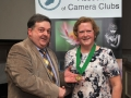 SACC Chairman Bill Power pictured presenting award to Mary Kinsella