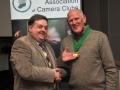 SACC Chairman Bill Power pictured presenting award to Padraig Molloy