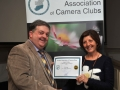 SACC Chairman Bill Power pictured presenting award to Patty Connor