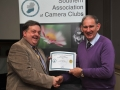 SACC Chairman Bill Power pictured presenting award to Roger Jones