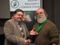 SACC Chairman Bill Power pictured presenting awards to Charlie Galloway