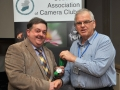 SACC Secretary John Doheny pictured presenting award to Bill Power