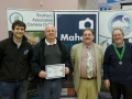 Michael Maher from Mahers Photographic with award winners Pat O'Donoghue, SACC Chairman Bill Power and award winner John Hooton (l to r)