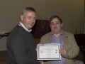 SACC Chairman Richie Dwyer presenting Bill Power with his certificate