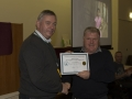 SACC Chairman Richie Dwyer presenting Morgan O\'Neill with his certificate