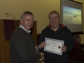 SACC Chairman Richie Dwyer presenting Paul Flynn with his certificate