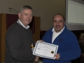 SACC Chairman Richie Dwyer presenting Paul Reidy with his certificate