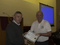 SACC Chairman Richie Dwyer presenting Tadhg Hurley with his certificate