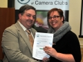 Judge Ciara Drennan pictured presenting award to Bill Power
