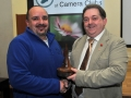 SACC Chairman Bill Power pictured Seamus Scullane Memorial Trophy for best overall image to Paul Reidy