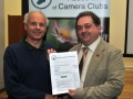 SACC Chairman Bill Power pictured presenting award to Alan Mahon