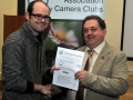 SACC Chairman Bill Power pictured presenting award to Barry Walsh