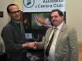 SACC Chairman Bill Power pictured presenting award to Eddie Kelly