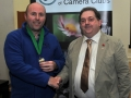 SACC Chairman Bill Power pictured presenting award to Fergal O'Callaghan