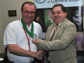 SACC Chairman Bill Power pictured presenting award to Ger O'Halloran