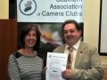 SACC Chairman Bill Power pictured presenting award to Helen Walsh